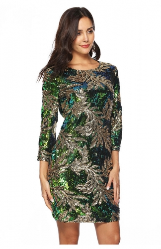Glitter Sequin Mini Party Dress Club Bodycon Gowns