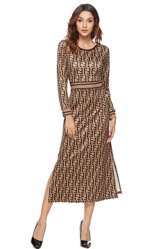 Long Sleeved  Dress O-Neck Female Party Dresses