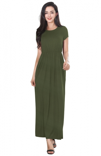 LOST IN HOLIDAY MAXI Green DRESS
