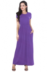 Purple Lost in Holiday Maxi Dress