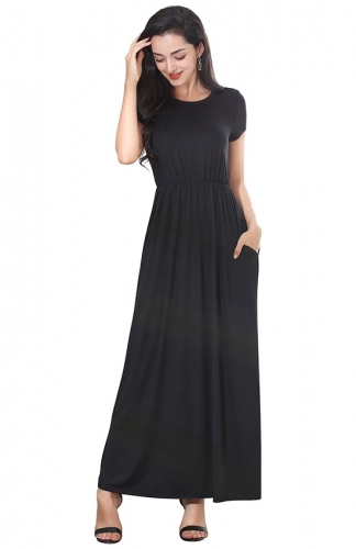 Lost in Holiday Black Maxi Dress