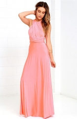 pink divine night backless maxi dress