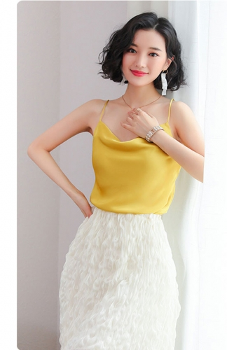 Sling Backless Chiffon Bottoming Shirt Blouse