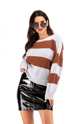 Long Sleeves Round Neck Loose Pullovers Jumper Tops