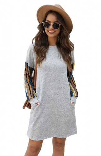 Cozy Vibes Long Sleeve Knit Shift Dress